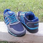 Кроссовки мужские Adidas р.41 кожа Харьков тёмно-синие сетка весна/лето, фото 5