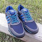 Кроссовки мужские Adidas р.41 кожа Харьков тёмно-синие сетка весна/лето, фото 3