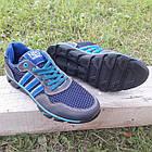 Кроссовки мужские Adidas р.41 кожа Харьков тёмно-синие сетка весна/лето, фото 4