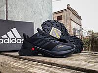Мужские термо кроссовки Adidas Terrex Gore-Tex Black утепленные водонепроницаемые