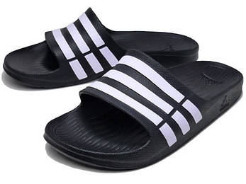 Сланцы Adidas Duramo Slide Белый/Черный G15890 оригинал, фото 2