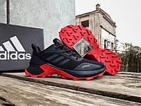 Мужские термо кроссовки Adidas Terrex Gore-Tex Black Red утепленные водонепроницаемые