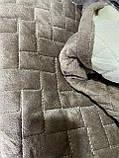 Накидки на диван и два кресла велюровые Размер 90х160см -2шт и 90х210см-1шт качественные дивандеки, фото 4