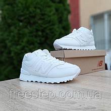 Жіночі зимові кросівки в стилі New Balance 574 білі