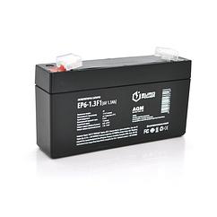 Акумуляторна батарея EUROPOWER AGM EP6-1.3F1 6 V 1.3 Ah ( 95 x 25 x 50 (55) ) Black Q40