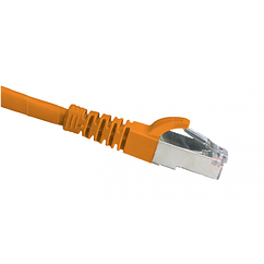 Патч-корд OK-net Кат.6a U/FTP 26AWG LZ0H Помаранчевий 0,5 м