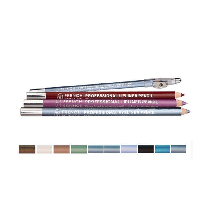 Олівець для очей Triumf №70 blue satin Тріумф дерев'яний з точилкою