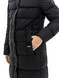 Жіночий довгий пуховик DK-80, чорний, фото 4