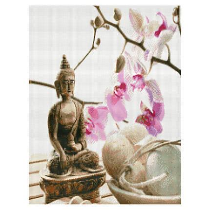 Алмазная вышивка (мозаика) 50x60 см Расслабление с Буддой Strateg, фото 2