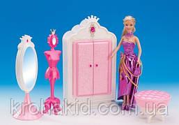 Меблі для ляльок Барбі Глорія шафа з дзеркалом і манекеном / шафа-гардероб з дзеркалом 1209