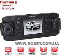 Двухкамерный видеорегистратор для машин Carcam III с GPS