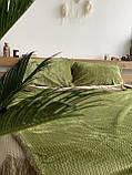 Велюровый Комплект постельного белья  Волна двухсторонний Шоколадно - бежевый, фото 5