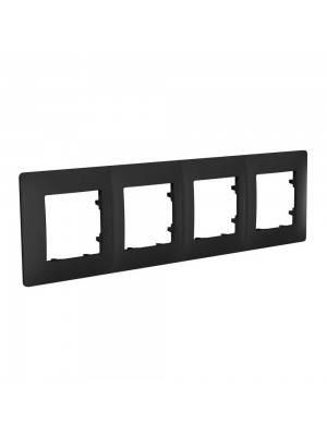 Рамка на 4 місця plank антрацит, фото 2