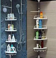 Угловая полка для ванной комнаты Multi Corner Shelf, высота 2.6 м