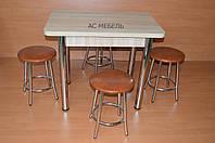 Столовая группа Стол обеденный кухонный на кухню деревянный и 4 стула табуретки со стульями комплект Тедди для