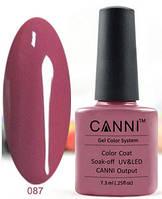Гель лак Canni 087 (насыщенный розово-коричневый)