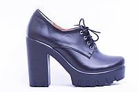 Туфли из натуральной черной кожи №310-2, фото 1
