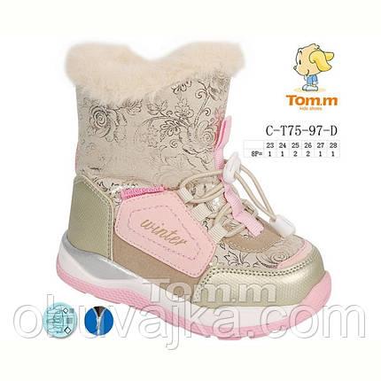 Зимняя обувь оптом Детская термо обувь для девочек от фирмы Tom m (23-28), фото 2