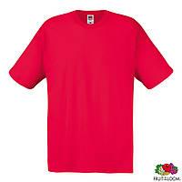 Футболка хлопковая красного цвета Original T от Fruit of The Loom , футболки оптом под нанесение печати
