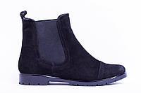 Ботинки из натуральной черной замши №334-2, фото 1