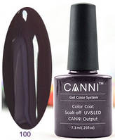 Гель лак Canni 100 (темно-коричневый)
