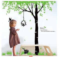 """Наклейка на стену, украшения стены наклейки  """"дерево любви"""" 2м10см, (2листа 60*90см)"""