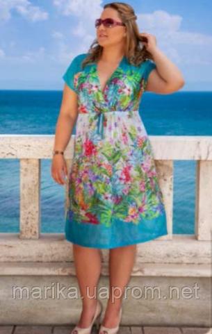 Пляжное платье цвета бирюзы