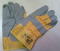 Рукавицы рабочие кожаные с жёстким манжетом RLMY