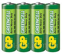 Батарейка GP 15G-S2 Greencell R6 (АА,трей 40/200/1000)