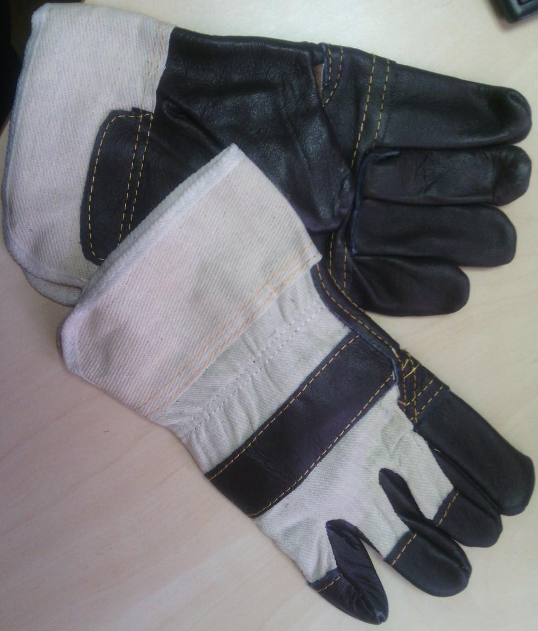 Рукавицы рабочие кожаные комбинированные RL