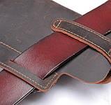 Сумка поясная Mackros 9064 мужская для мобильного телефона телячья кожа, фото 4