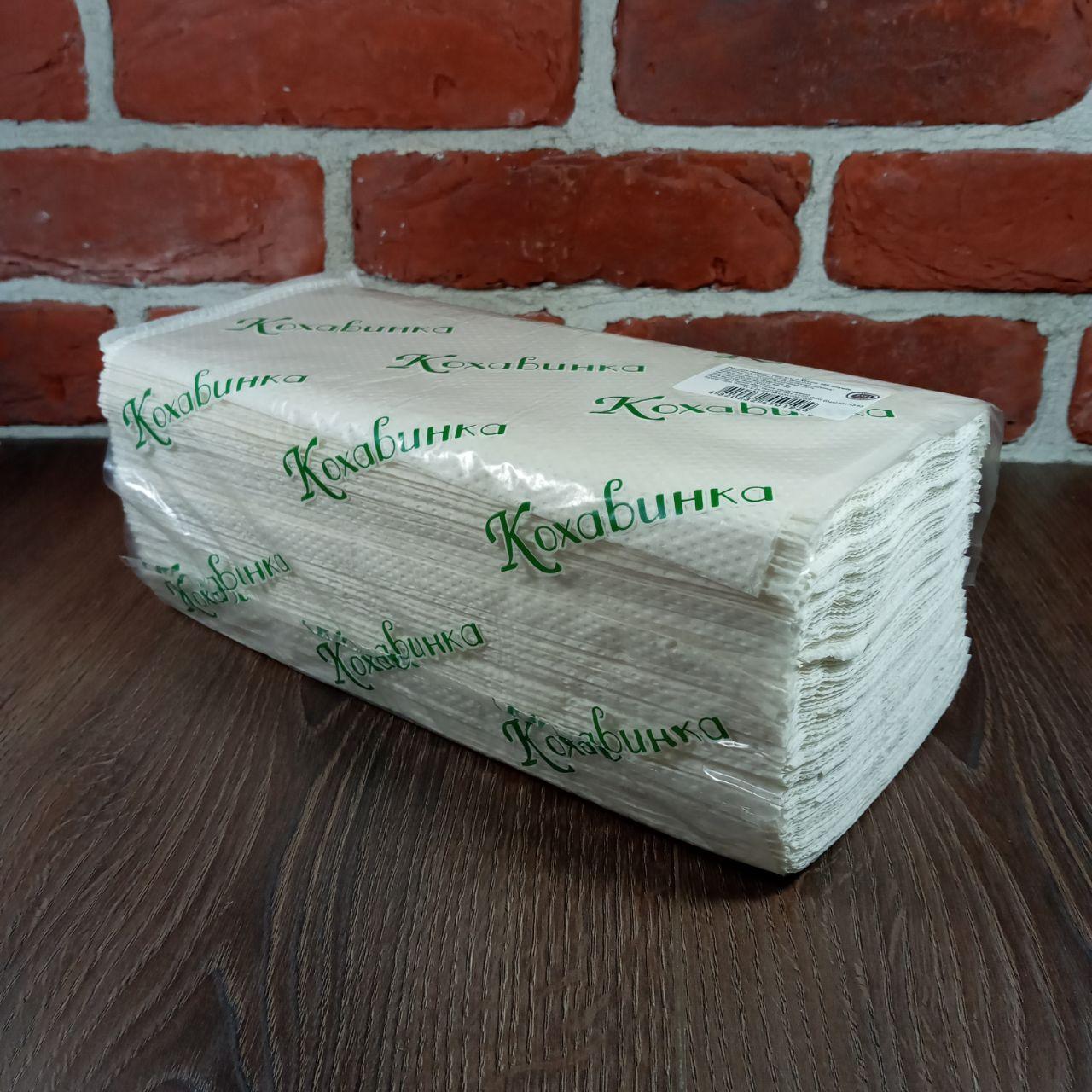 Полотенца бумажные ZZ белое 160 листов Каховинка