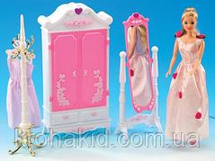 Мебель для кукол Барби Глория гардеробная комната / шкаф-гардероб с зеркалом 2609