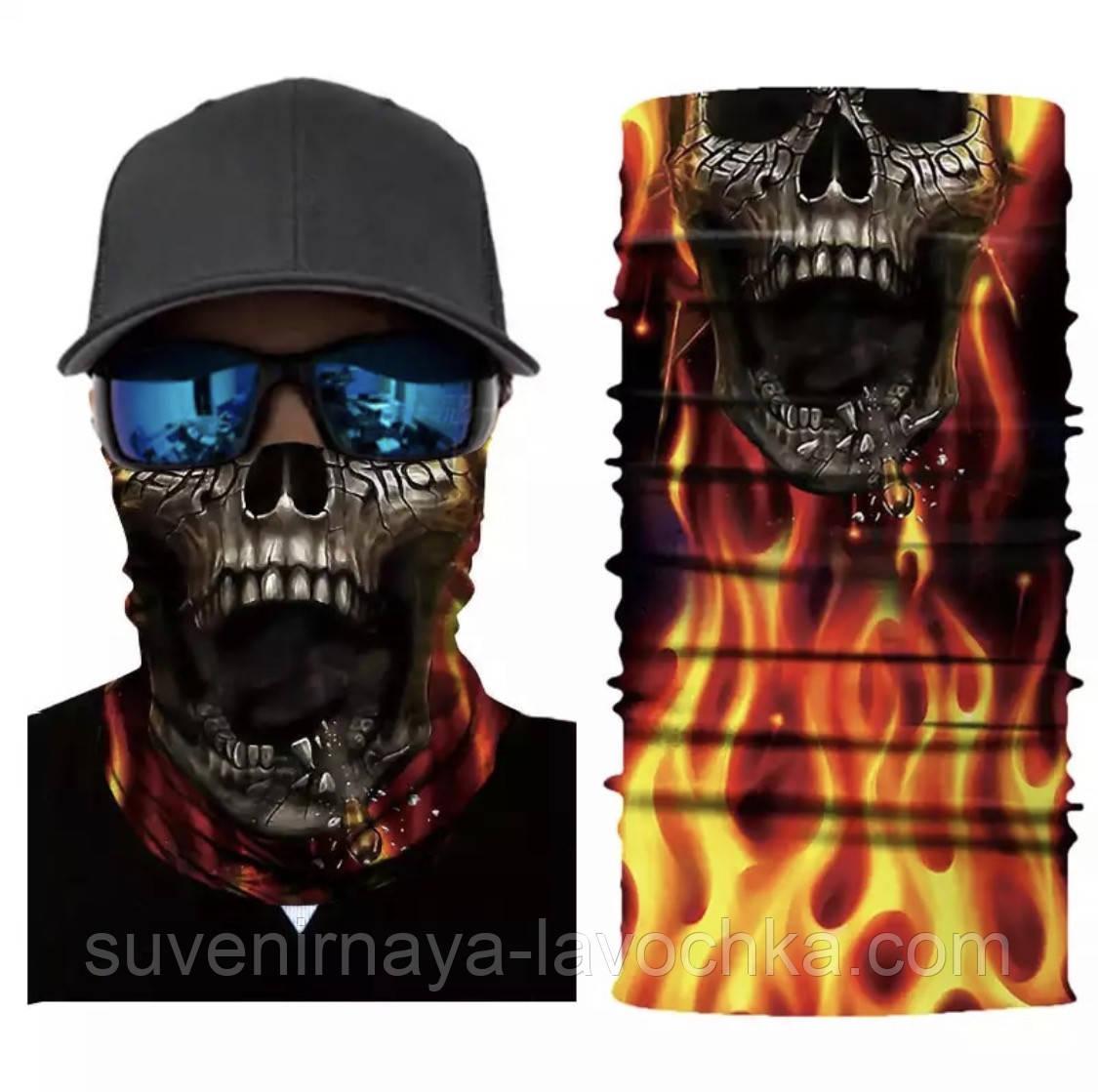 Мото бафф  Fire from the underworld. Качественная маска на лицо