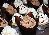 """Бумажные формочки для кексов """"Тюльпан"""", коричневые (150 шт., d=35 мм, высота бортика=35/50 мм), фото 2"""
