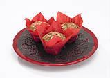 """Бумажные формочки для кексов """"Тюльпан"""", коричневые (150 шт., d=35 мм, высота бортика=35/50 мм), фото 4"""