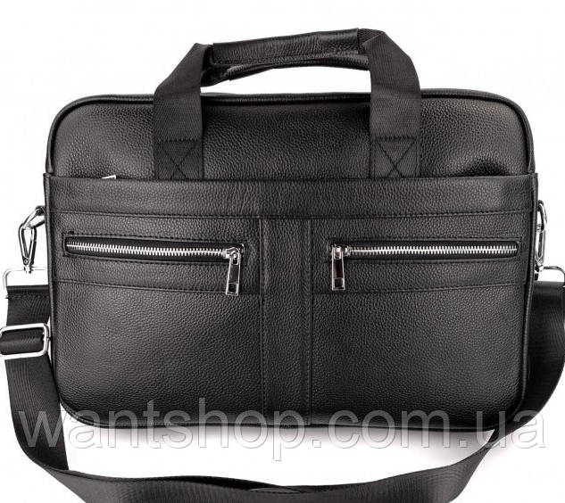 Офисная мужская сумка для ноутбука и документов SK N8956 черная