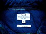 Мужская фланелевая байковая рубашка в клетку Б/У бренд Next Размер M/48 Ворот 39, фото 10