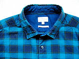 Мужская фланелевая байковая рубашка в клетку Б/У бренд Next Размер M/48 Ворот 39, фото 9