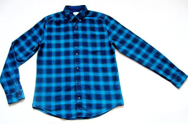 Мужская фланелевая байковая рубашка в клетку Б/У бренд Next Размер M/48 Ворот 39