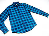 Мужская фланелевая байковая рубашка в клетку Б/У бренд Next Размер M/48 Ворот 39, фото 4