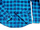 Мужская фланелевая байковая рубашка в клетку Б/У бренд Next Размер M/48 Ворот 39, фото 3