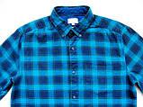 Мужская фланелевая байковая рубашка в клетку Б/У бренд Next Размер M/48 Ворот 39, фото 2
