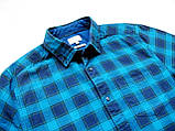 Мужская фланелевая байковая рубашка в клетку Б/У бренд Next Размер M/48 Ворот 39, фото 7