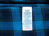 Мужская фланелевая байковая рубашка в клетку Б/У бренд Next Размер M/48 Ворот 39, фото 8