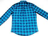 Мужская фланелевая байковая рубашка в клетку Б/У бренд Next Размер M/48 Ворот 39, фото 5