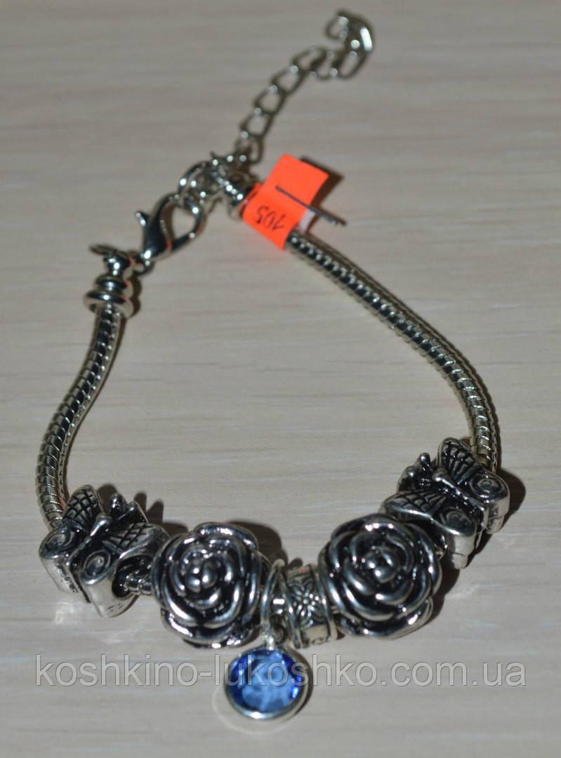 ненавязчивый браслет с бусинами в стиле Пандора