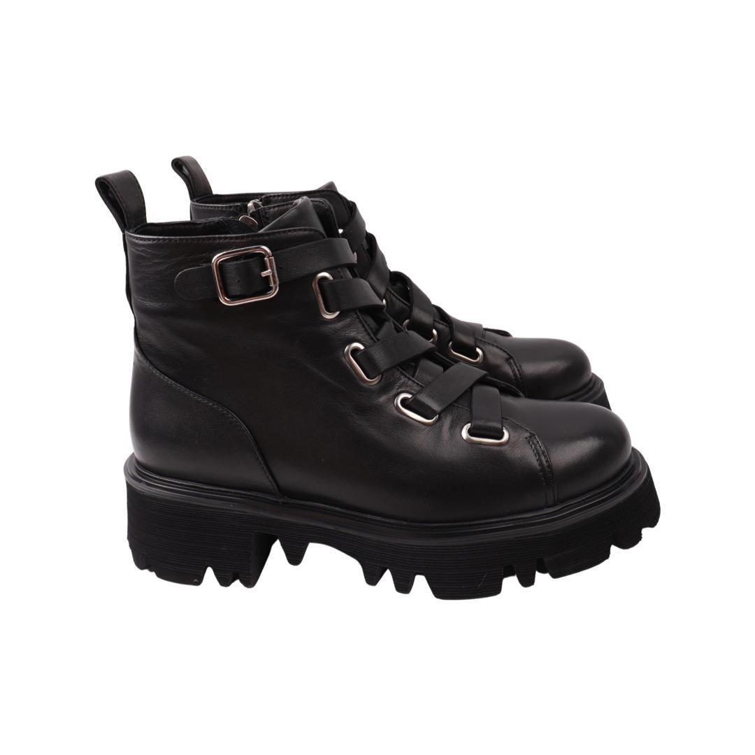 Ботинки женкие Romanellі черные натуральная кожа