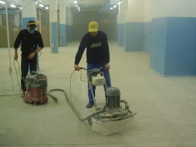 Обеспыливание и упрочнение бетонного пола