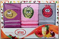 Набор махровых салфеток Atlas Plus для кухни (Овощи) 30*50 Турция